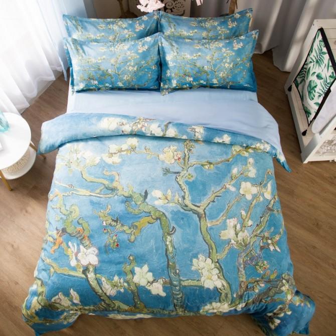 Van Gogh Almond Blossoms Duvet Cover Set