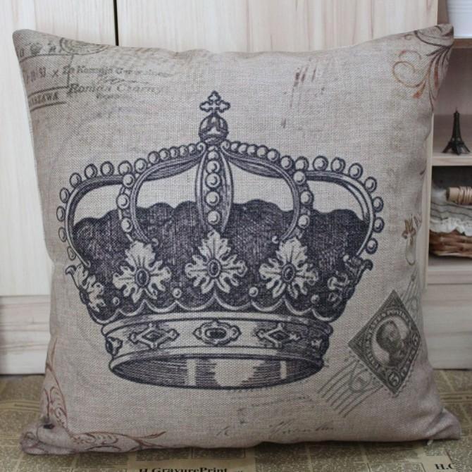 Royal Crown Cushion Cover