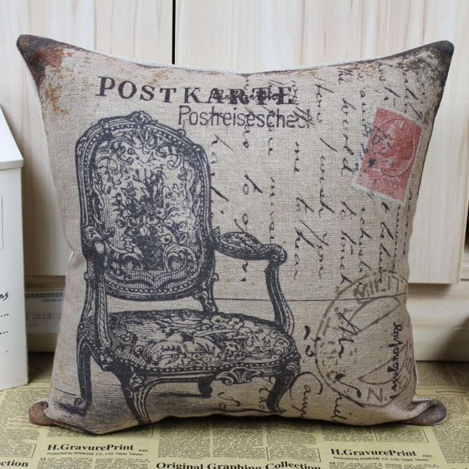 Vintage Victorian Chair Cushion Cover