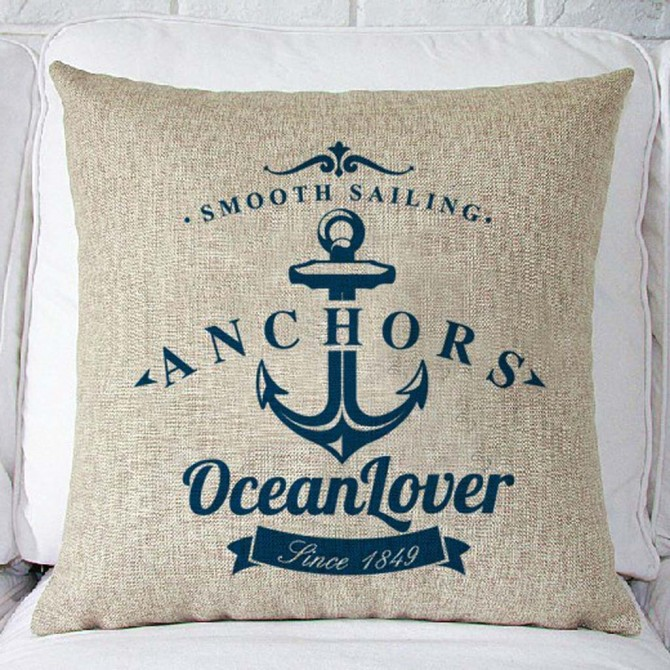 Anchors Ocean Lover Cushion Cover