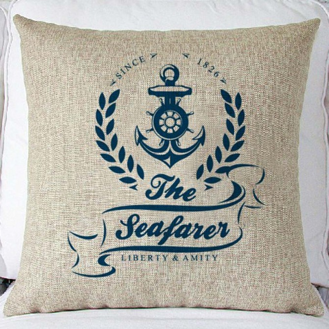 The Seafarer Cushion Cover
