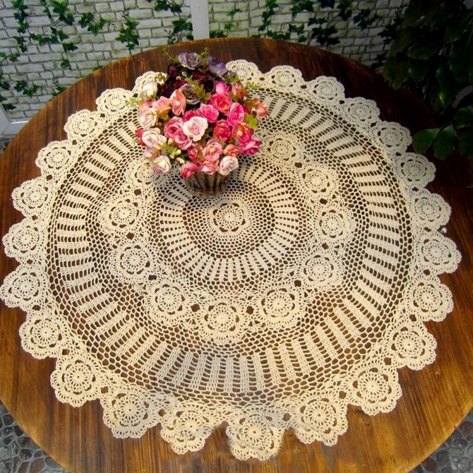 Endless Crochet Round Tablecloth