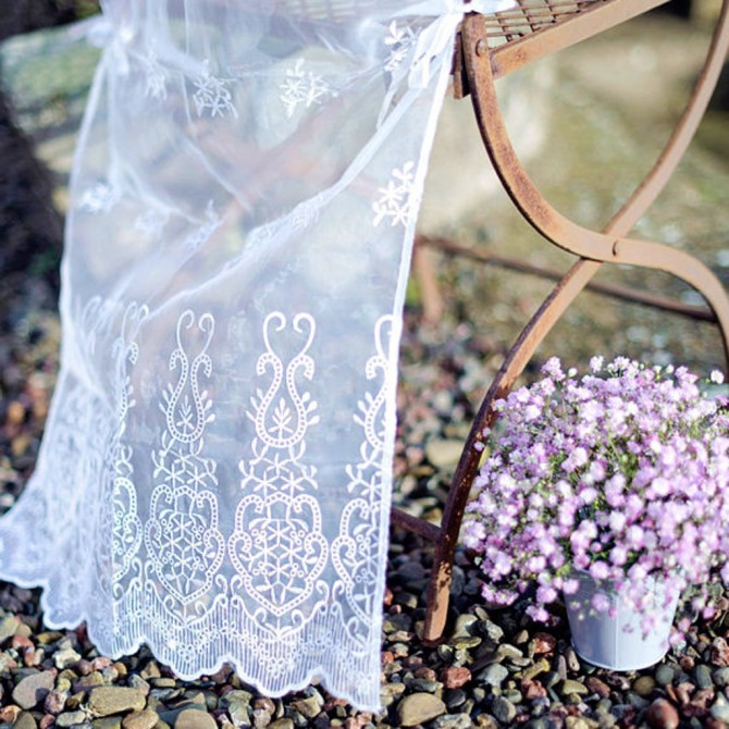 White Lace Chiavari Chair Cover Sleeve