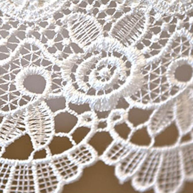 Florence White Jacquard Lace Tablecloth