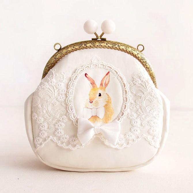 White Rabbit Lace Bag Purse