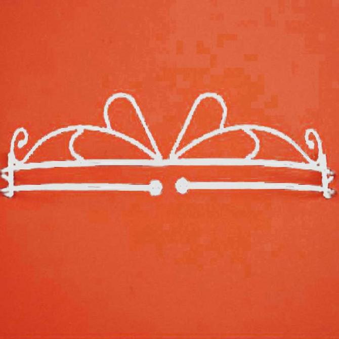 White Bed Crown Set-Single Rod