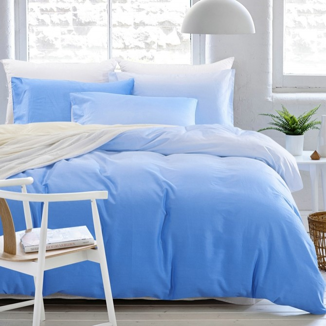 Blue Gradient Duvet Cover Set