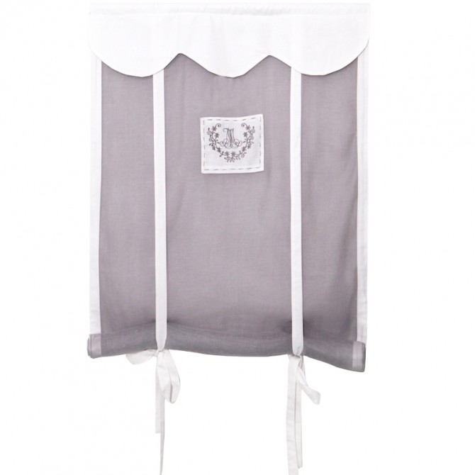 Elegant French Tie Up Scalloped Curtain