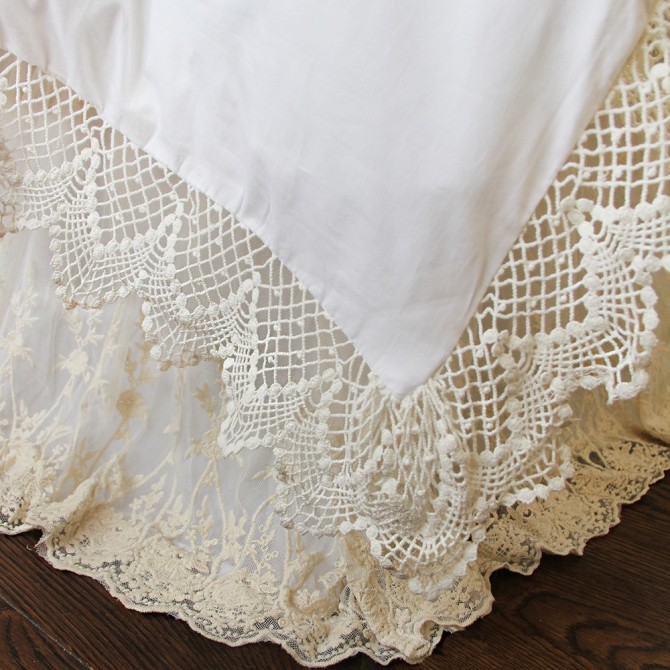 Cotton Lace Duvet Cover Set