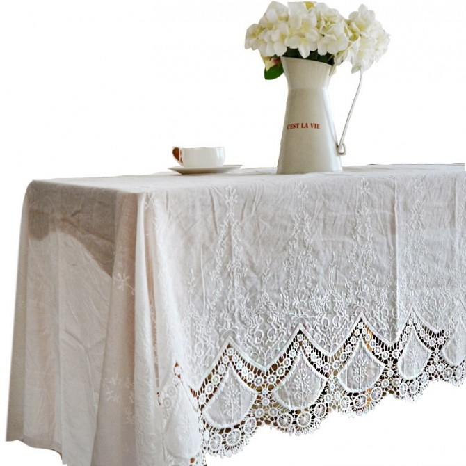 Lace Linen Tablecloth