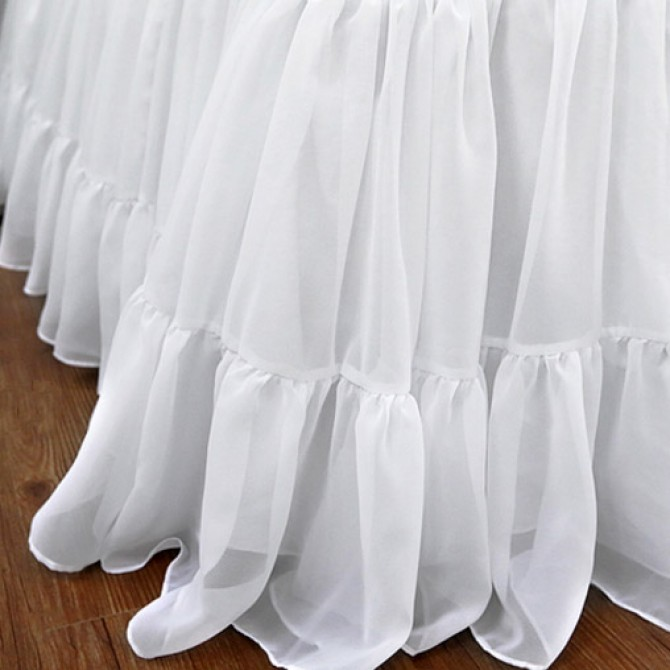 Chiffon Ruffle Bed Skirt