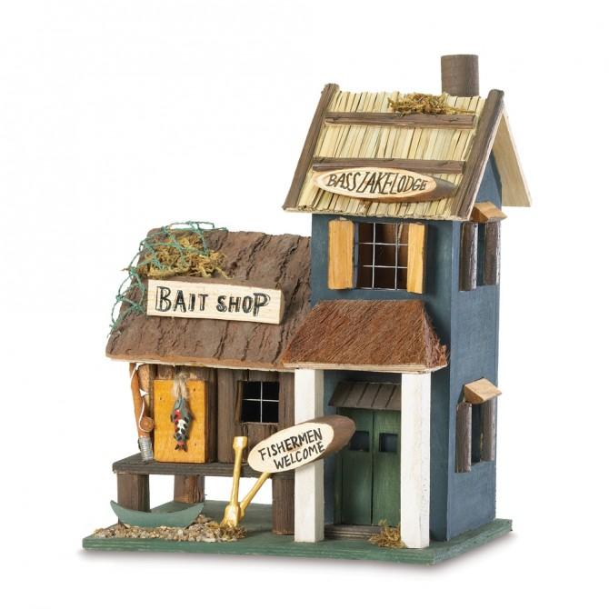 Wood Bird House - Bass Lake Lodge