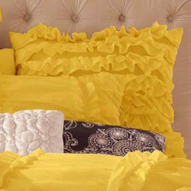 Ruffle Euro Sham, Yellow
