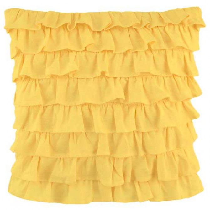 Clara Ruffled Sham, Yellow