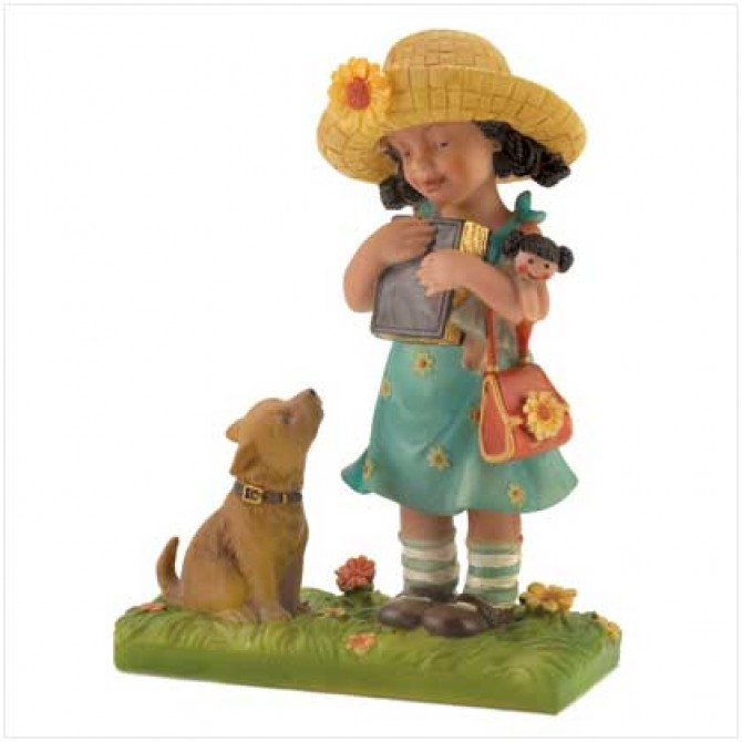 School Girl Figurine