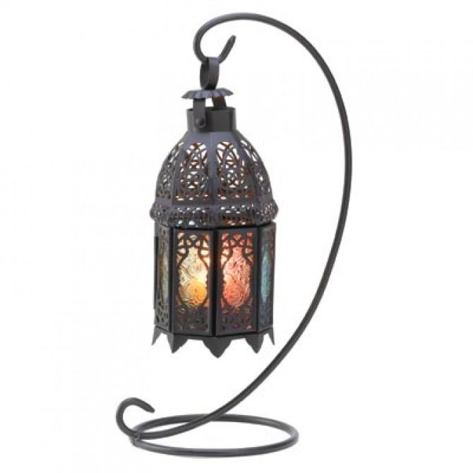 Rainbow Moroccan Lantern Stand
