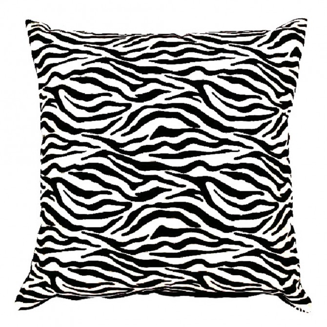 Zebra Stripe Print Cushion Cover