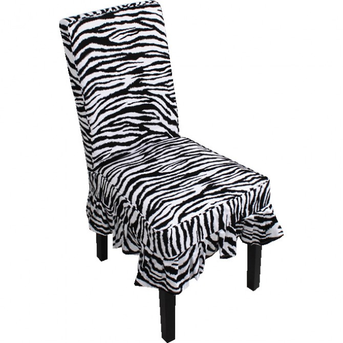 Dinning Chair Slipcover, Zebra