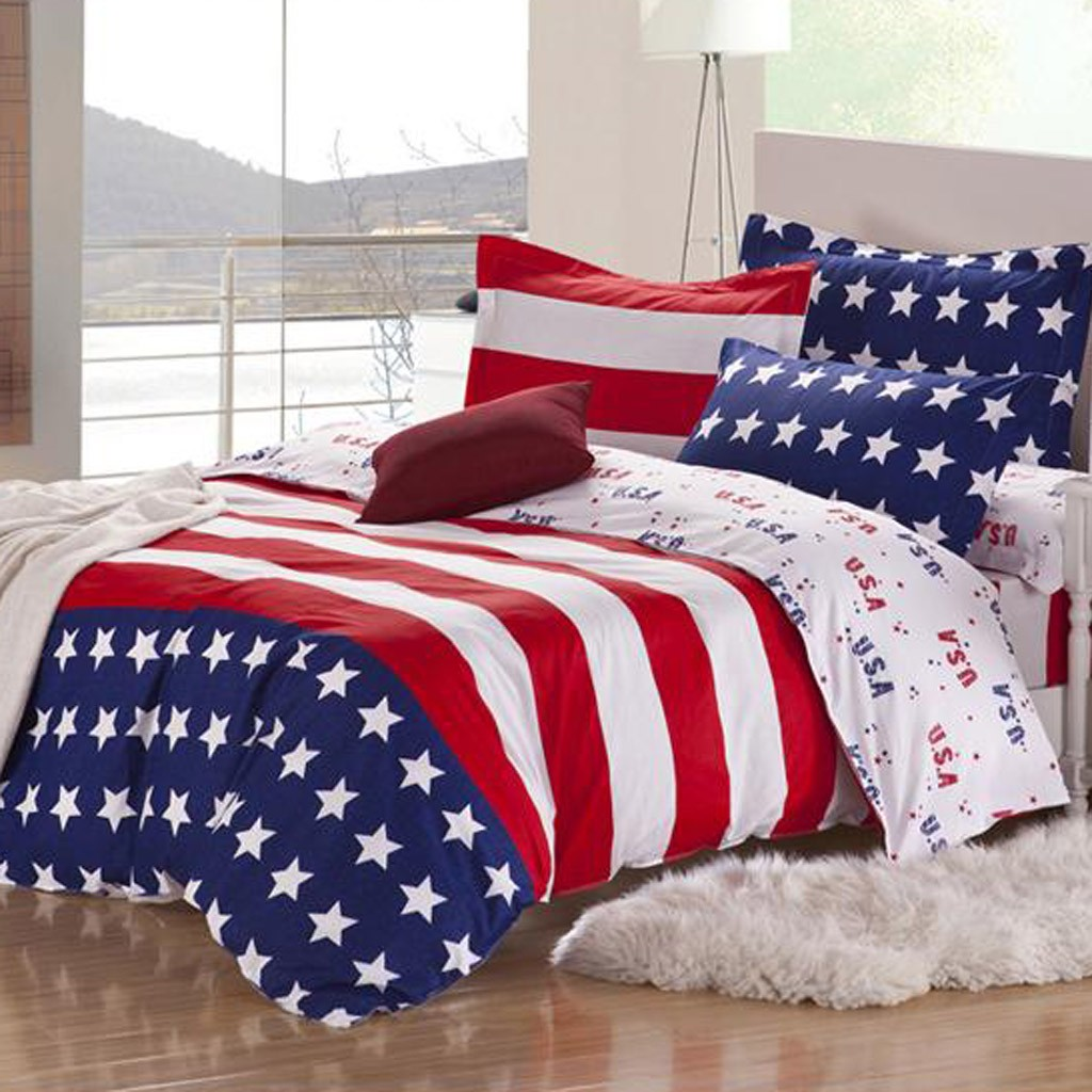 American Flag Bedding