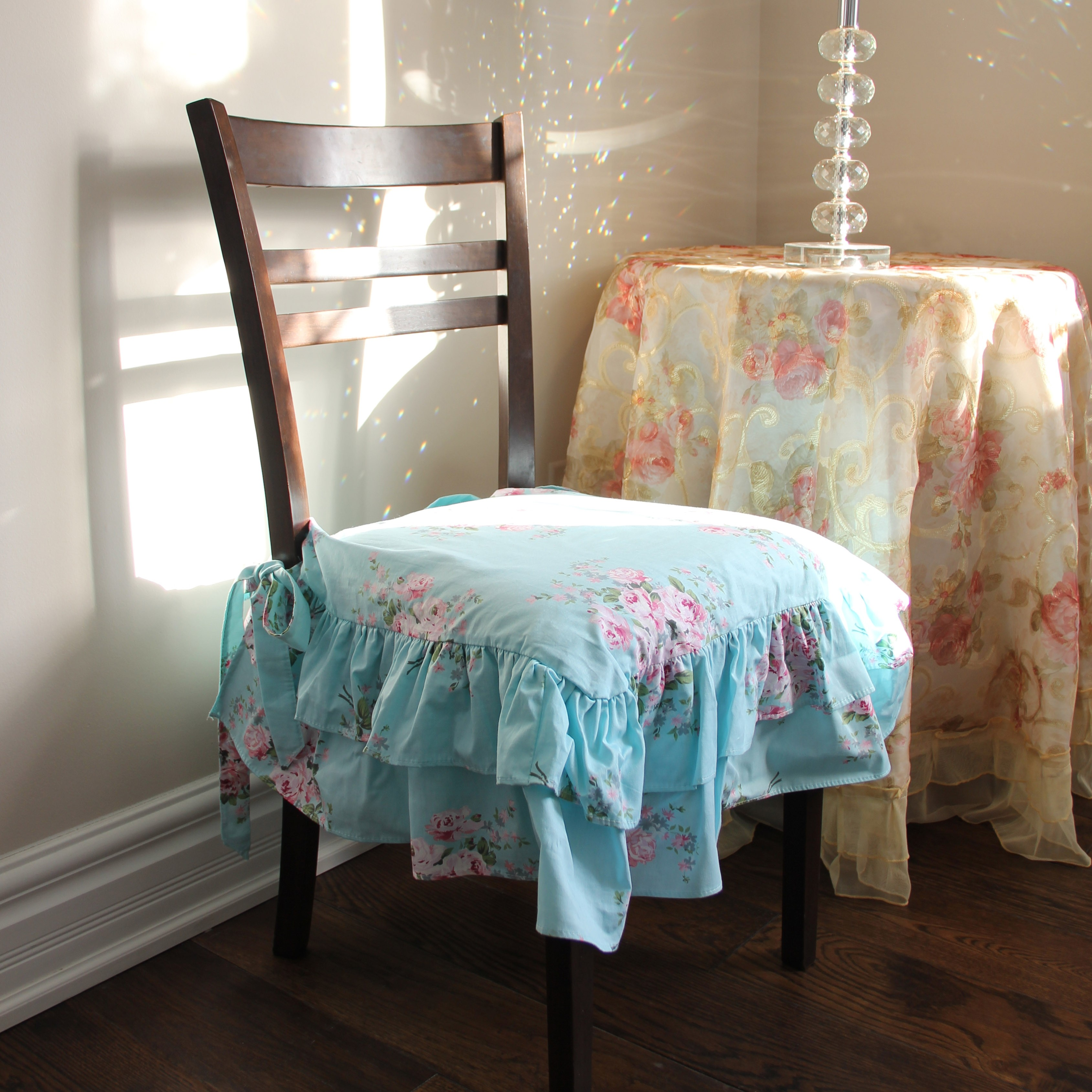 CHAIR COVER As Shabby Chic Chair Covers, Image Source: Lovely Decor.com