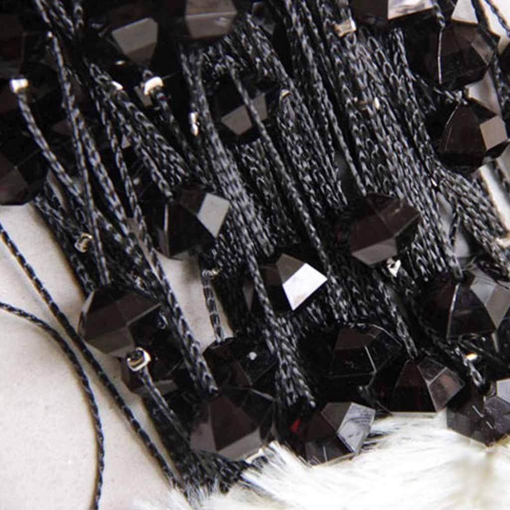 Beaded string curtains - Black Beaded String Curtain