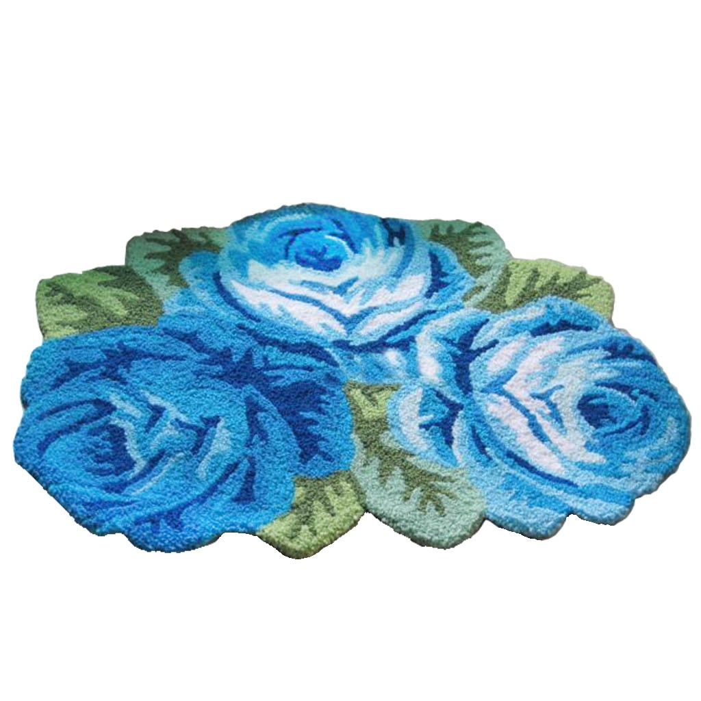 Victorian Blue Roses Rug