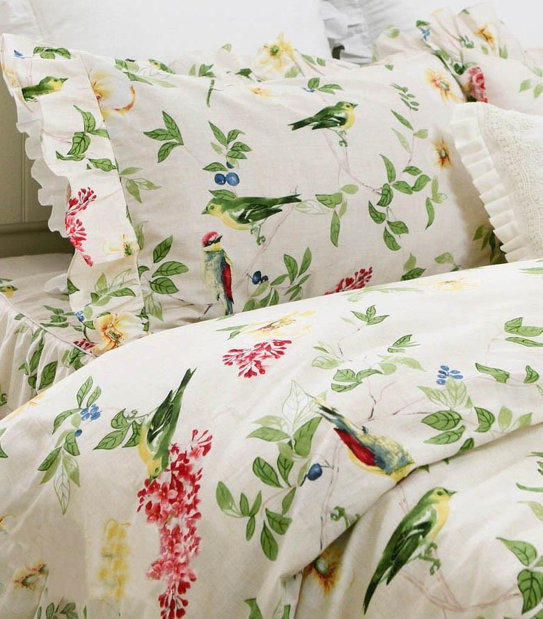 Chirping Birds Duvet Cover Set