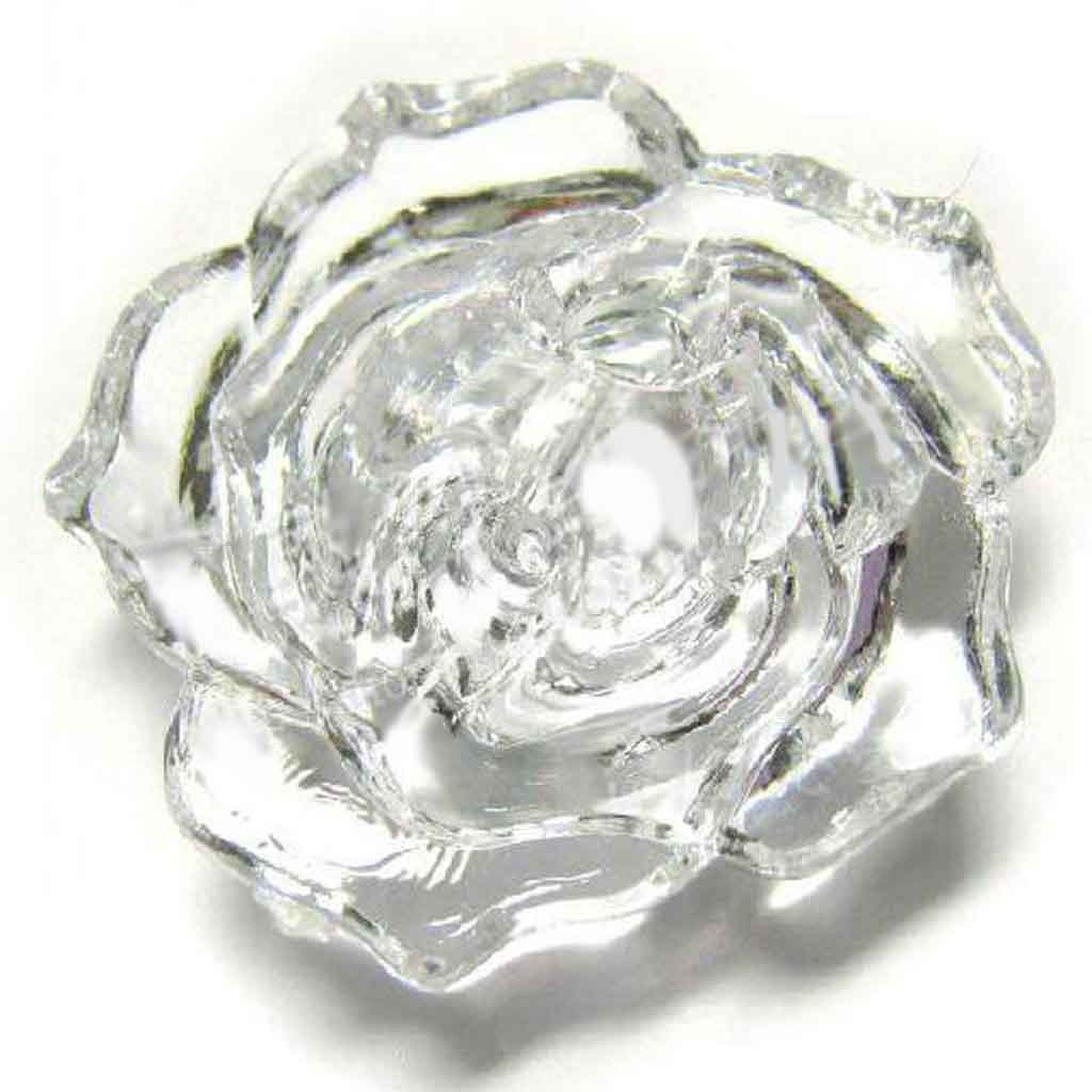 Cyrstal Rose Button