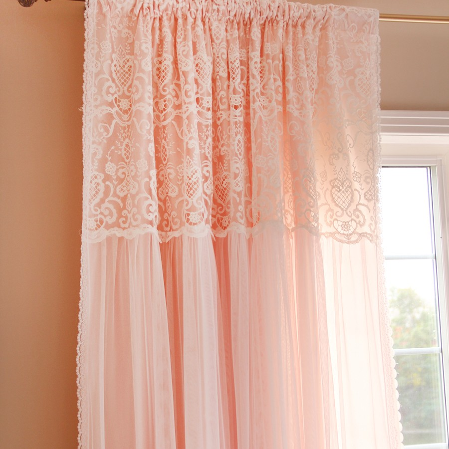 nursery linen panels set lace of ruffle blush and panel full caden view products curtain closeup curtains lane