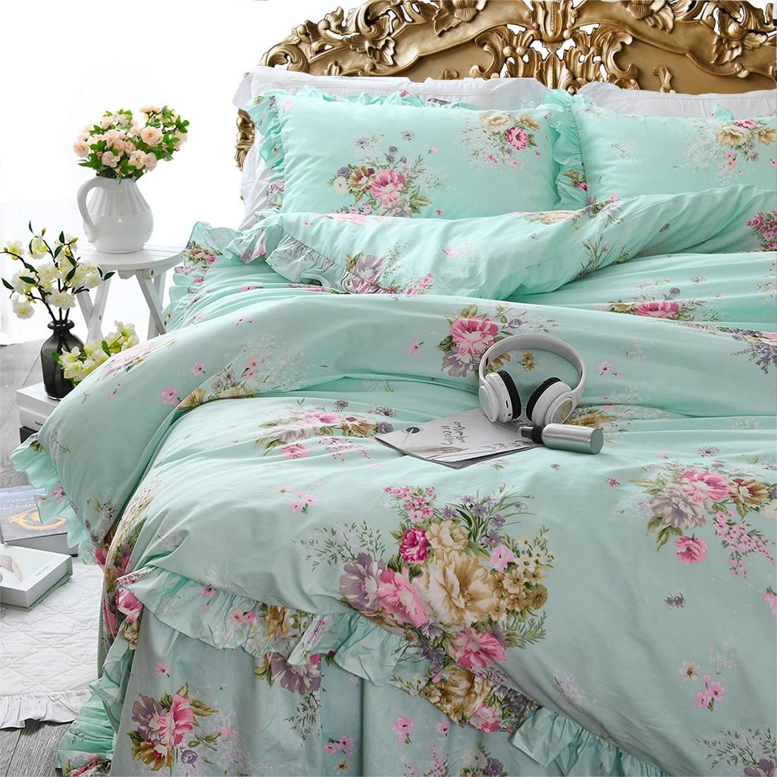 Green Roses Bedding Set