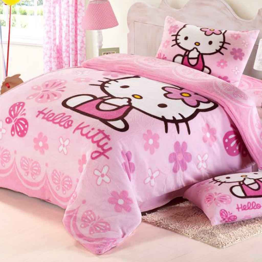Pink hello kitty bedsheet - Hello Kitty Duvet Cover Set