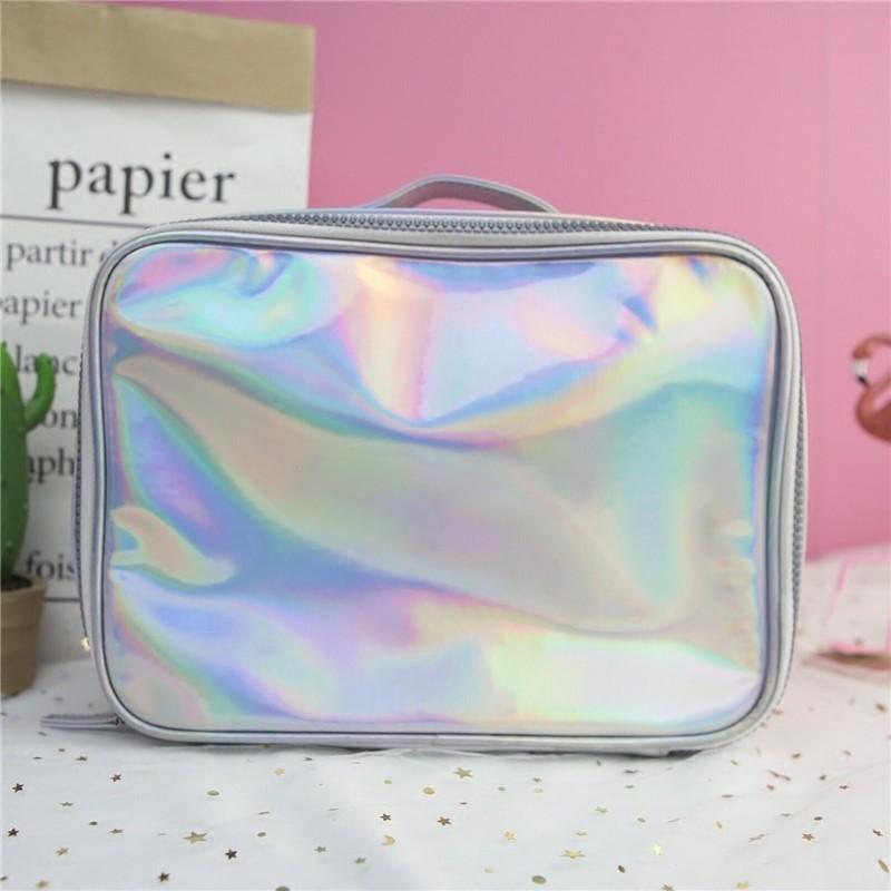 30cae37409 Silver Iridescent Hologram Makeup Bag - Bag - Fashion