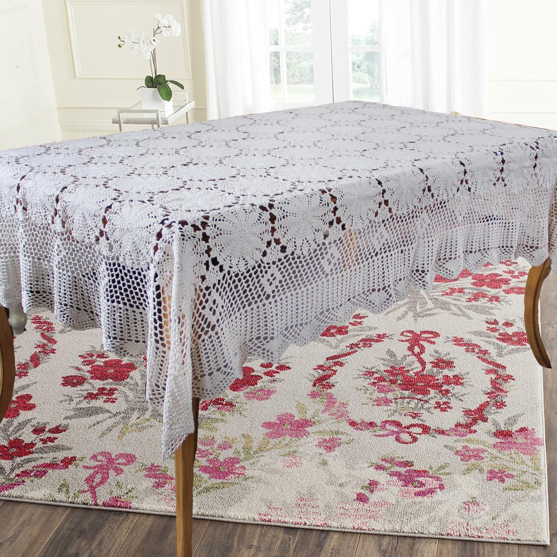 Elegant Provence Crochet Tablecloth With Set De Table Boutis Provencal.