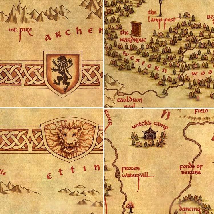 Narnia Map Canvas Print