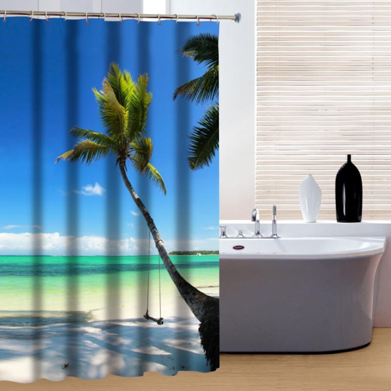Palm Tree Shower Curtain - Tree Shower Curtain
