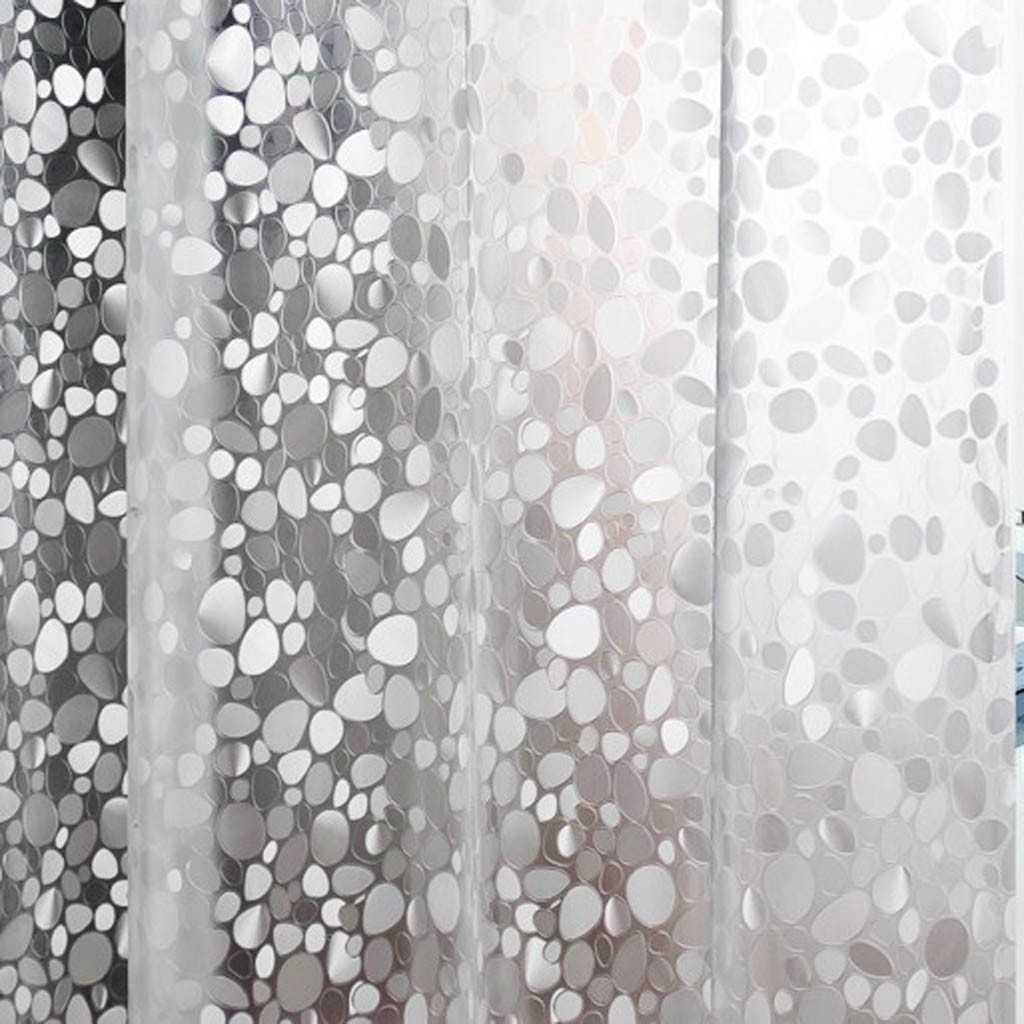 3D Crystal Iridescent Shower Curtain