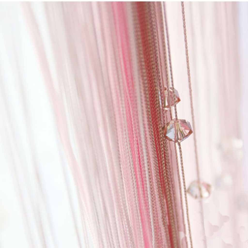 Pink Beaded String Curtain