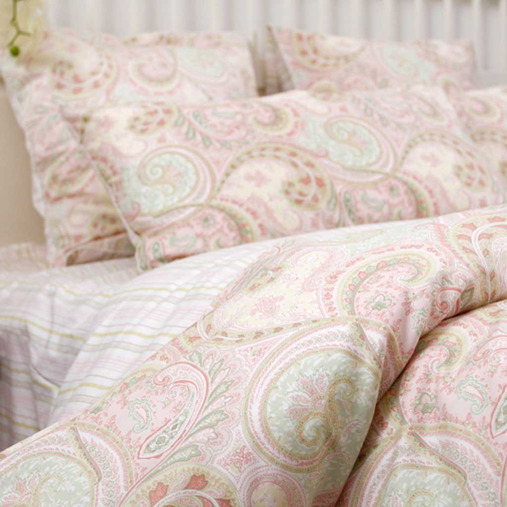 Custom Made Twin Size Pink Paisley Bedding Set Custom