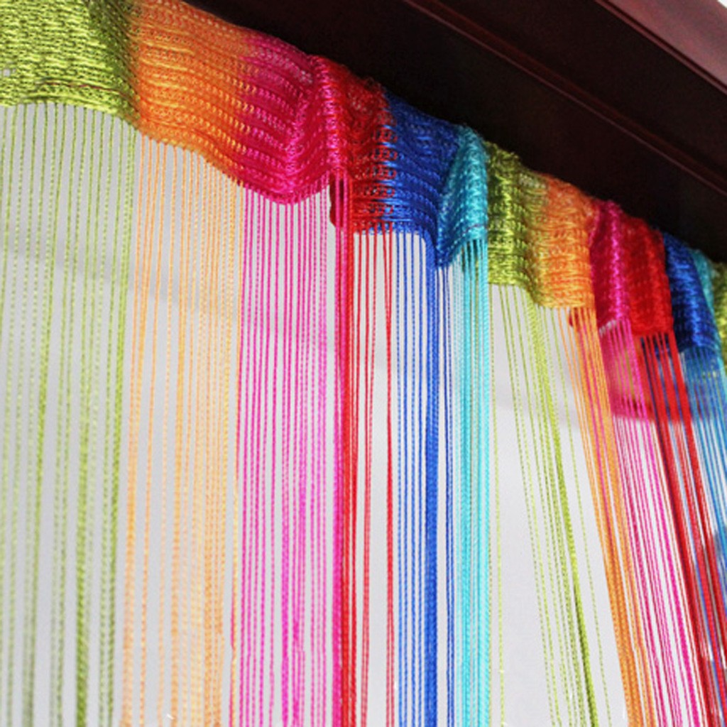 Rainbow R Room: Rainbow String Curtain