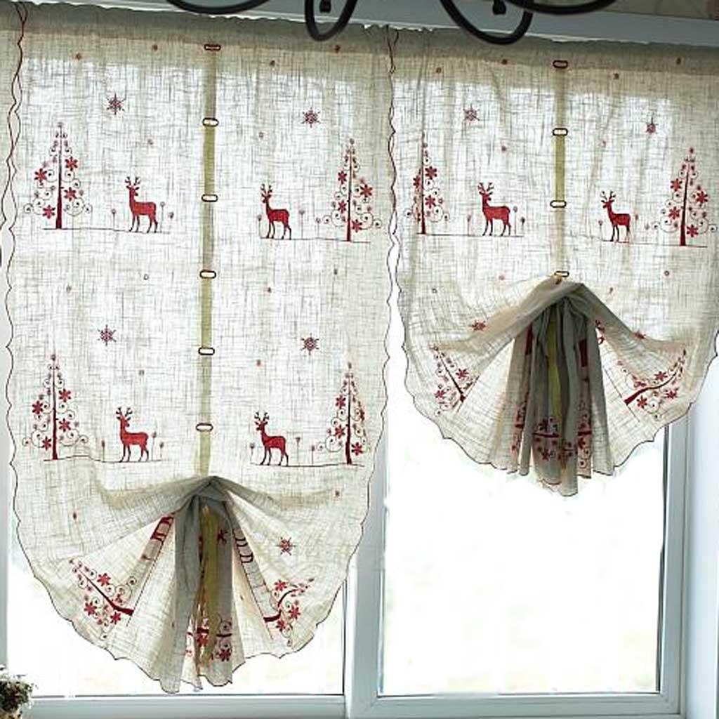 reindeer pull up curtain