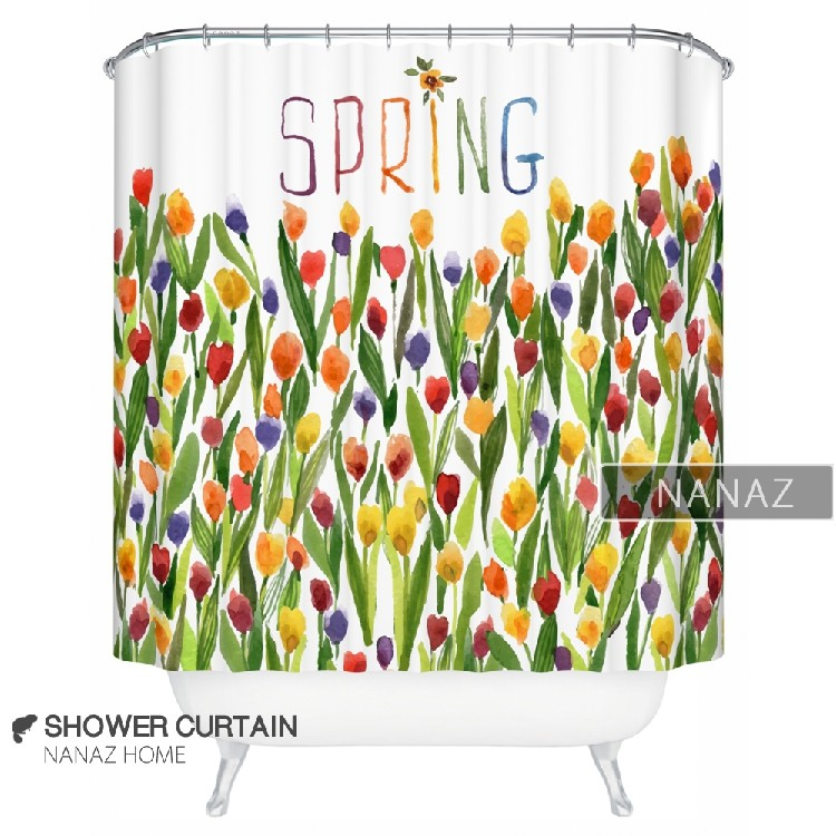 Tulips Bloom Spring Shower Curtain