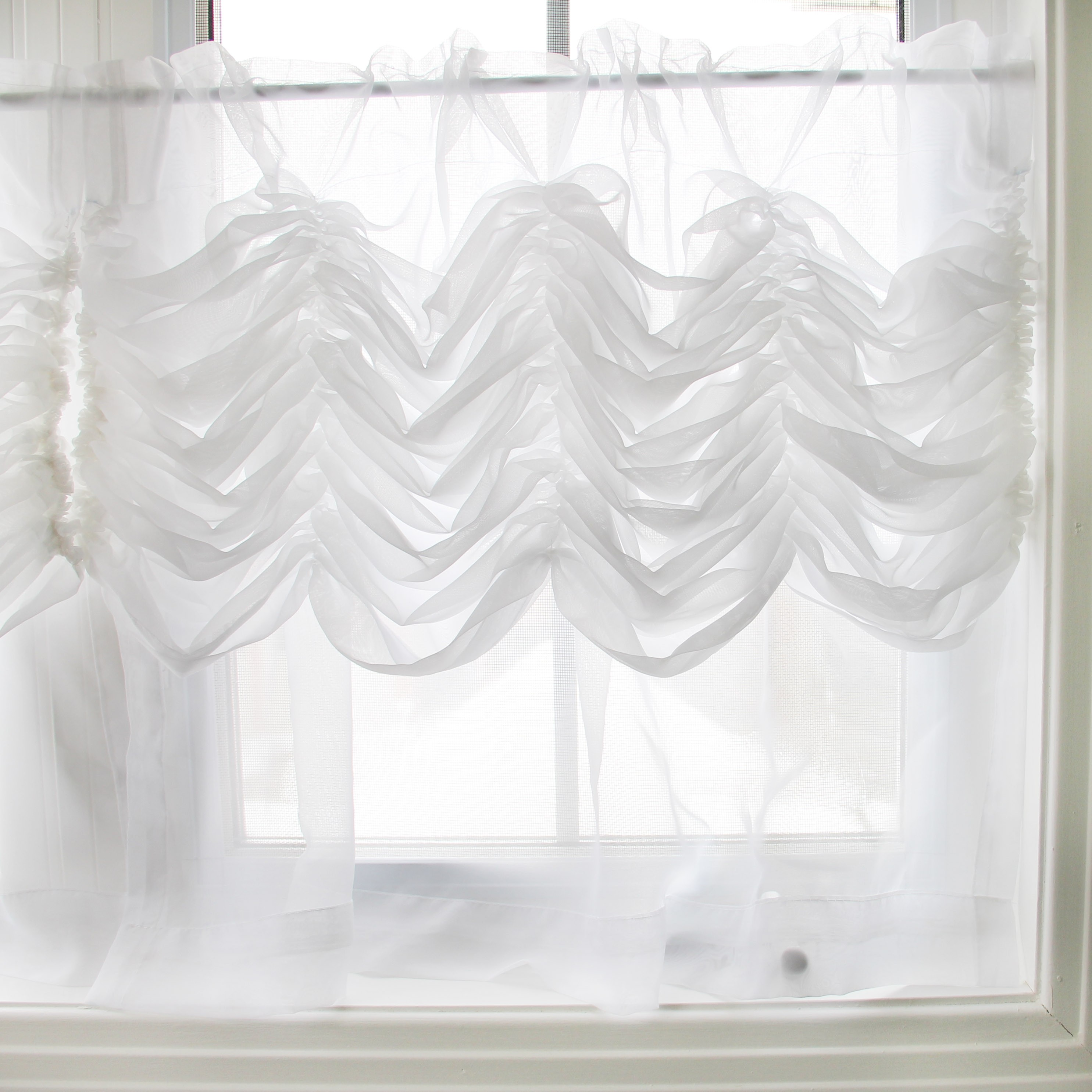 shade aqua valance relaxed stationary rico fabric non white roman operable pin in custom embroidered cottage