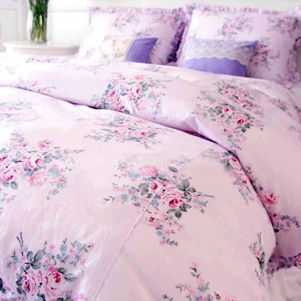 Shabby Chic Pink Roses Bedding Bedding Sets & Collections