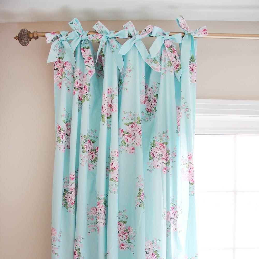Enjoyable Shabby Chic Blue Rose Curtain Download Free Architecture Designs Xerocsunscenecom