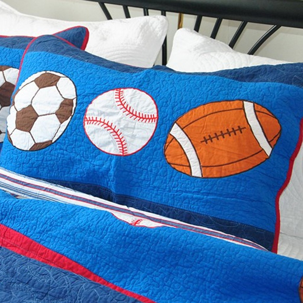 Boys sports bedding - Boys Sports Themed Quilt Bedding