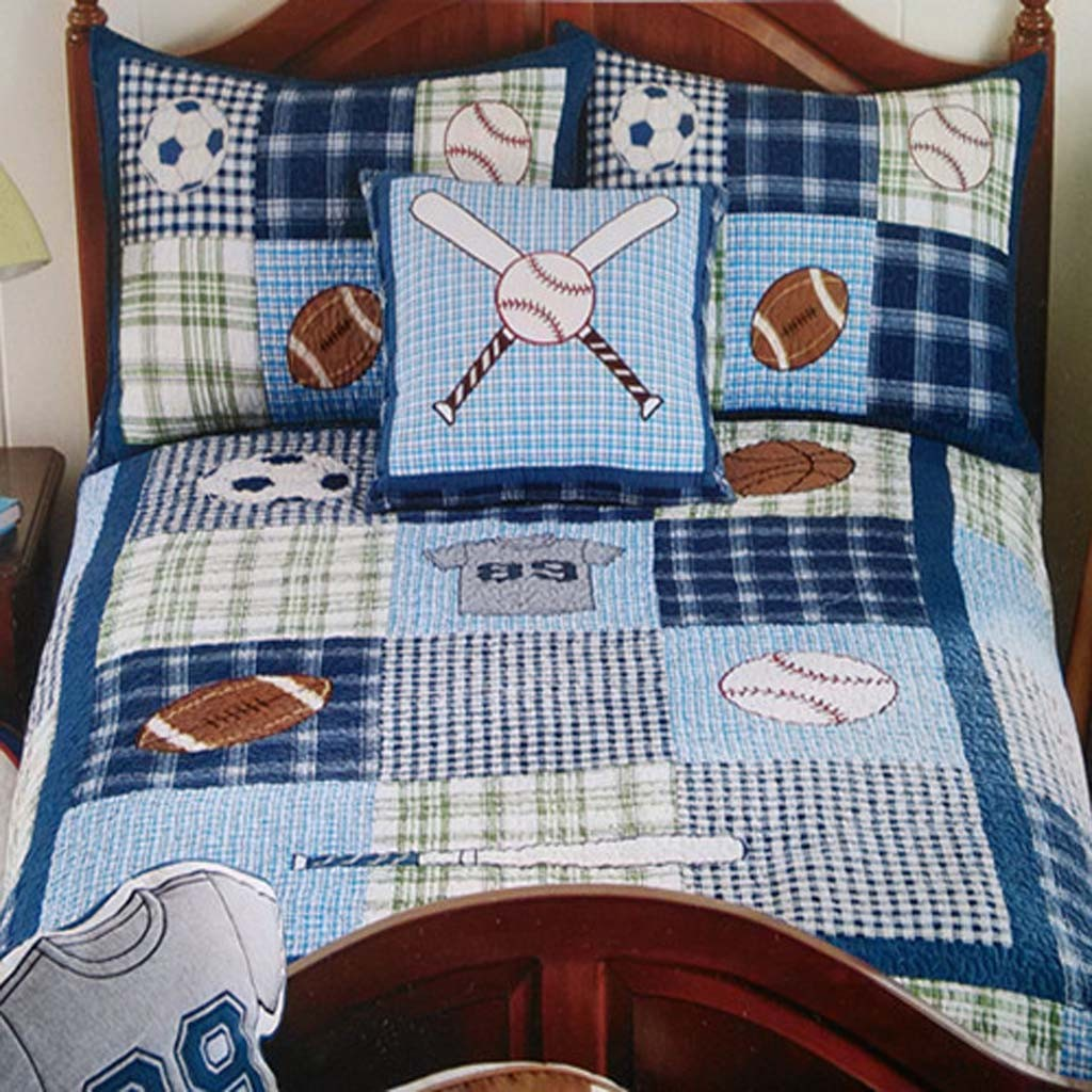 Boys sports bedding - Boys Sports Quilt Bedding