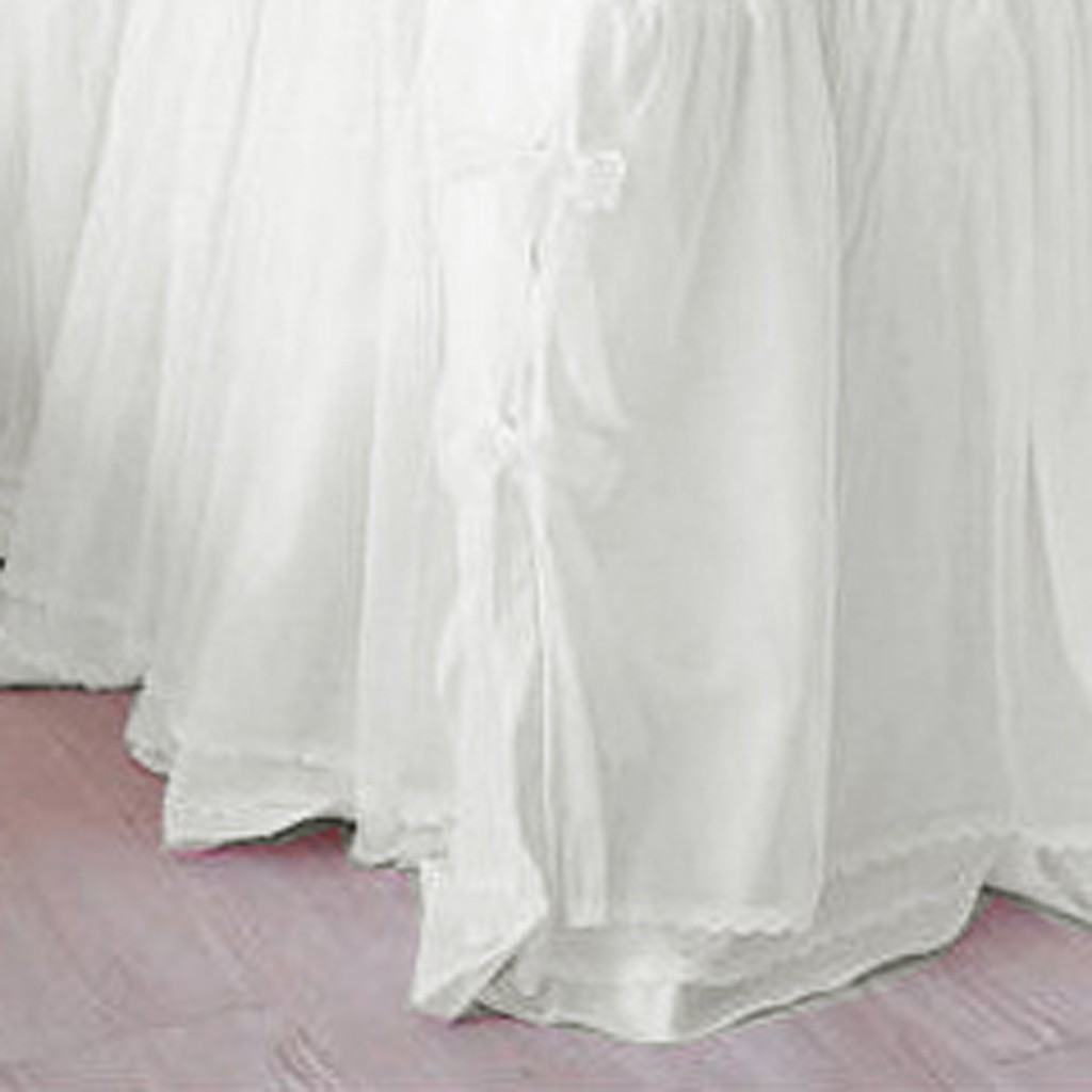 White Full Bed Skirt 34
