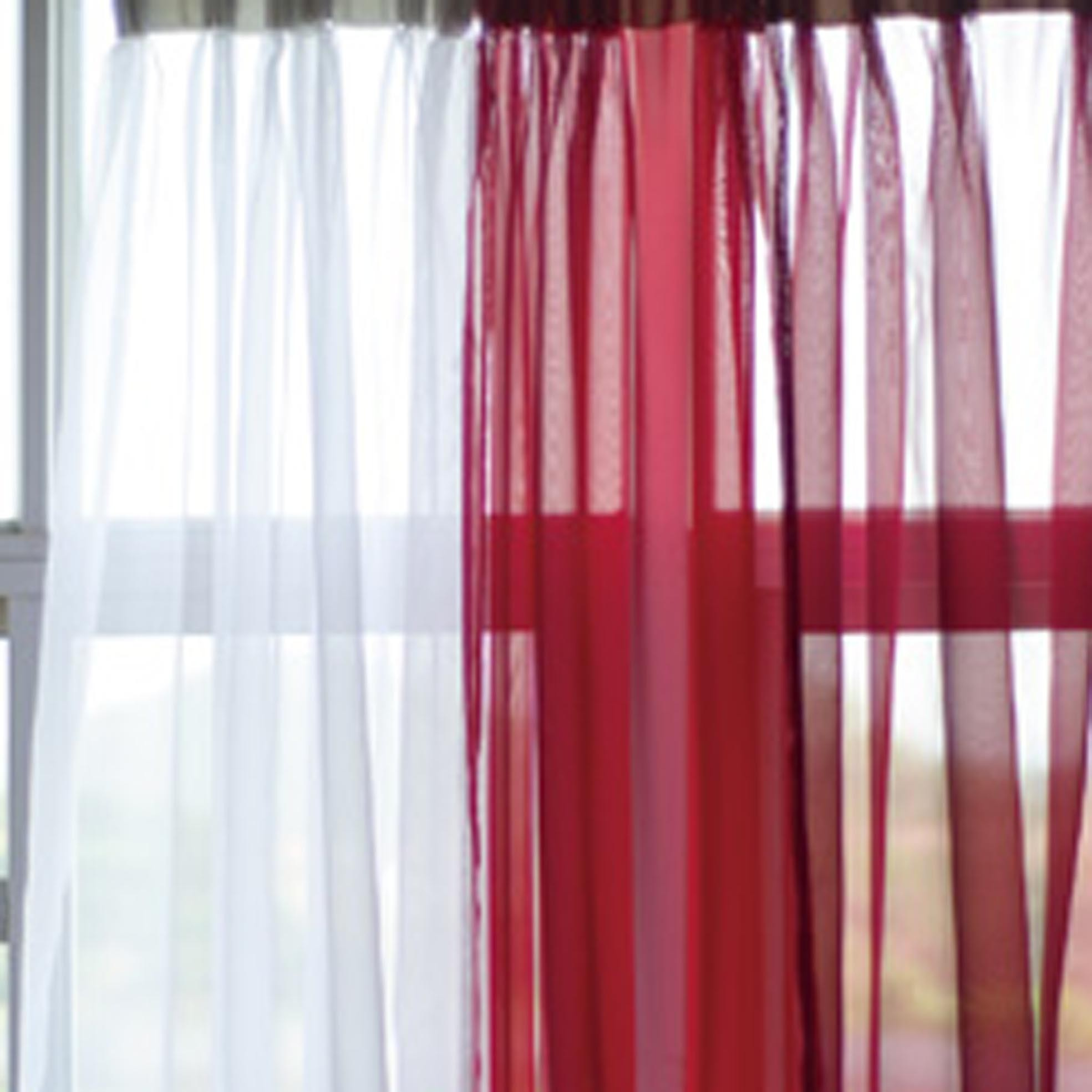 sheer voile outlet spa curtains elegance curtain a bath panel