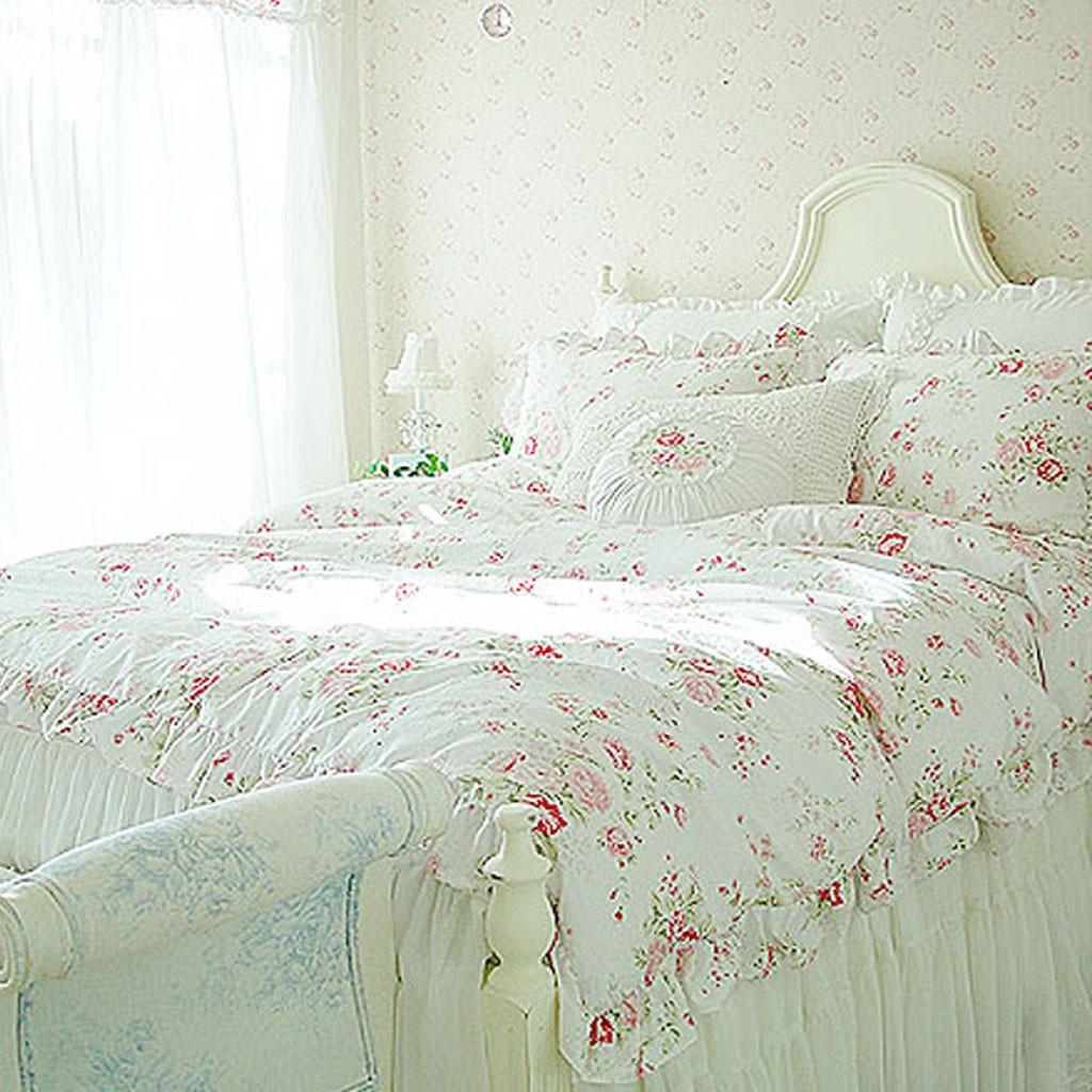shabby chic bedding - white romance bedding set