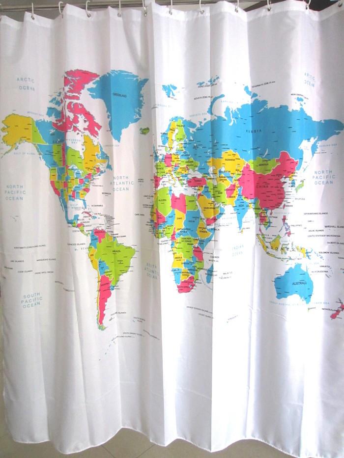 World map shower curtain gumiabroncs Choice Image